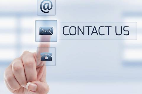 Contact by email post and phone