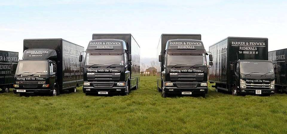 Farrer and Fenwick removal vehicles