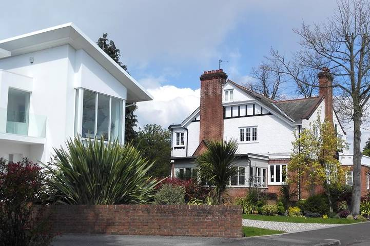 Residential street in Weybridge