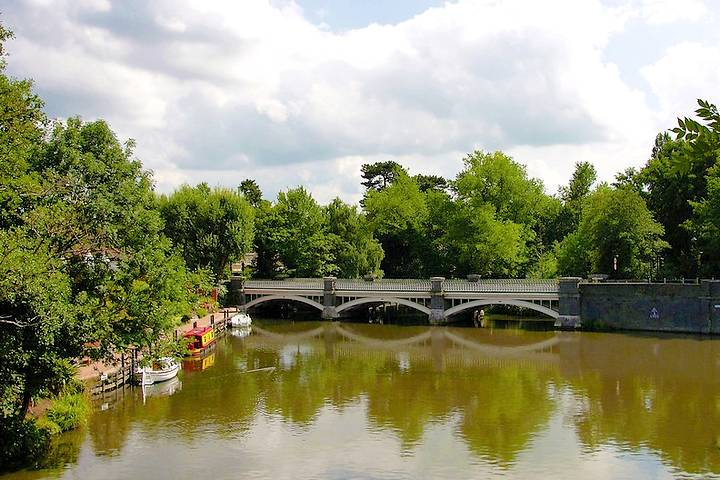 View of the river approaching Weybridge