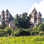 Historic home in European landscape